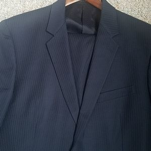 EUC  Worn once  pinstripe wool cashmere suit